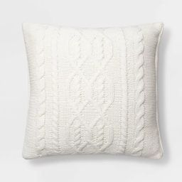 Cable Knit Chenille Throw Pillow - Threshold™ | Target