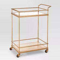 Wood & Glass Gold Finish Bar Cart - Threshold™ | Target