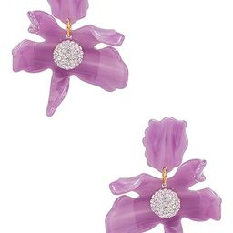 Small Crystal Lily Earring in Lilac | Revolve Clothing (Global)