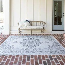 Jamya Oriental Gray Indoor / Outdoor Area Rug | Wayfair North America