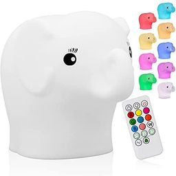 Cute Animal Kids Night Light, Silicone Rechargeable Nursery NightLights,Portable Changing Mode ... | Amazon (US)
