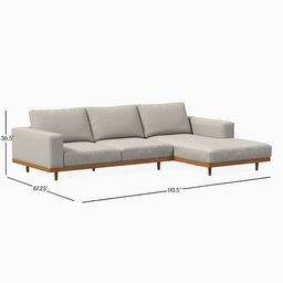 Newport 2-Piece Chaise Sectional | West Elm (US)