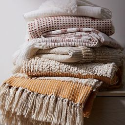 Tufted Lines Throw | West Elm (US)