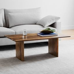 Anton Solid Wood Coffee Table - Rectangle | West Elm (US)