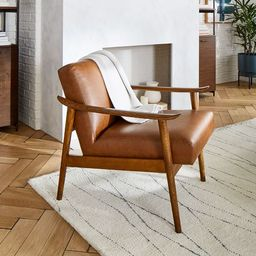 Mid-Century Leather Show Wood Chair | West Elm (US)