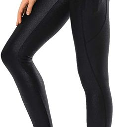 Retro Gong Womens Faux Leather Leggings High Waisted Workout Yoga Pants with Pockets | Amazon (US)