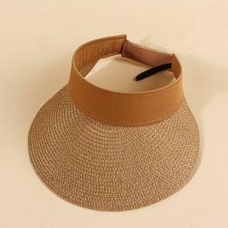 EMERY ROSE Straw Visor Hat | SHEIN