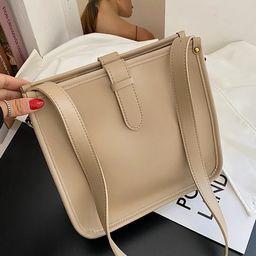 Solid Large Capacity Shoulder Bag | SHEIN