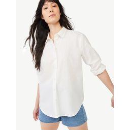 Free Assembly Women's Boyfriend Shirt with Long Sleeves   Walmart (US)