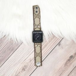 Skinny Band in Upcycled Brown Webbed GG | Spark*l