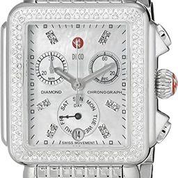 MICHELE Women's MWW06P000099 Deco Analog Display Swiss Quartz Silver Watch   Amazon (US)
