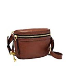 Fossil Women's Brenna Leather Convertible Waist Belt Bag, Brown | Amazon (US)