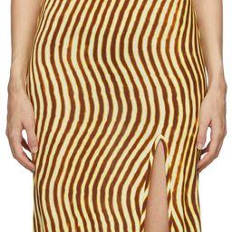 Yellow Len Lye Edition Slit Long Dress | SSENSE