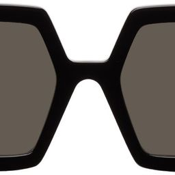 Black Hexagonal Sunglasses | SSENSE