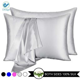 Deago Silk Pillowcases for Hair and Skin with Envelope Closure Pillow cases Soft Satin Pillow Cov...   Walmart (US)
