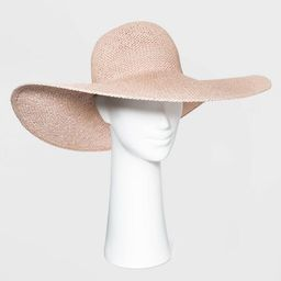 Women's Wide Brim Open Weave Straw Floppy Hat - A New Day™ Blush Pink | Target
