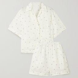 White + NET SUSTAIN The 04 floral-print washed-linen pajama set   Deiji Studios   NET-A-PORTER   Net-a-Porter (UK & EU)