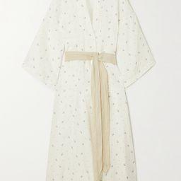 White + NET SUSTAIN The 02 floral-print washed-linen robe   Deiji Studios   NET-A-PORTER   Net-a-Porter (UK & EU)