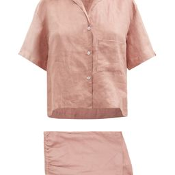 04 short linen pyjamas   Deiji Studios   Matchesfashion (UK)