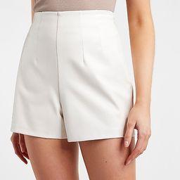 Super High Waisted Vegan Leather Shorts | Express