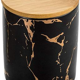 Black Kitchen Ceramic Canisters Set of 3 | KiiZYs Coffee Tea Sugar Canister Jar Set Bathroom Coun... | Amazon (US)