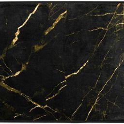 ALAZA Abstract Black and Gold Marble Floor Area Rug Doormat Entrance Floor Mat Bathroom Mat Non-S... | Amazon (US)