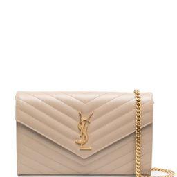 monogram-plaque quilted shoulder bag | Farfetch (US)