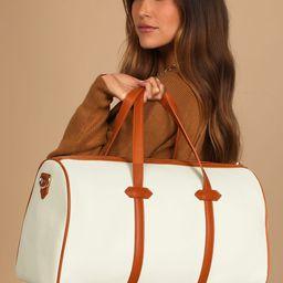 Next Destination Ivory and Camel Weekender Bag   Lulus (US)
