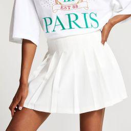 White pleated mini skirt | River Island (UK & IE)