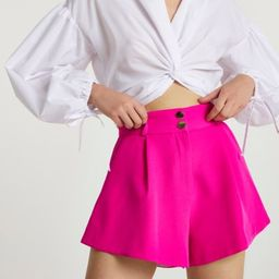 Pink structured shorts | River Island (UK & IE)