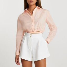 White structured shorts | River Island (UK & IE)