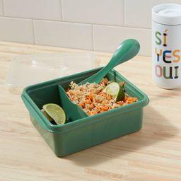 Plastic Bento Box with Utensil Crisp Green - Room Essentials™ | Target