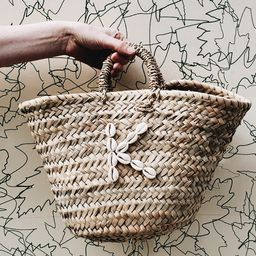 Personalised Initial Shell Monogram Mini Straw Tote bag  | Etsy | Etsy (UK)