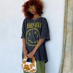 Nirvana Destroyed T-Shirt Dress | Urban Outfitters (US and RoW)