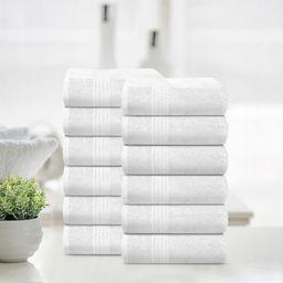 TRIDENT Soft Comfort 100% Air Rich Cotton Yarn Towels, 12 Piece Set - 12 Wash Cloth, Super Soft, ... | Walmart (US)