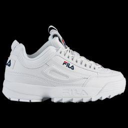 Fila Womens Fila Disruptor II Premium - Womens Shoes White/Navy/Red Size 05.0 | Foot Locker (US)