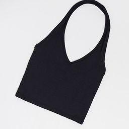 Miss Selfridge halter neck crop top in black | ASOS (Global)