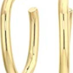 Rebecca Minkoff Womens Chunky Tubular Hoop Earrings Gold One Size | Amazon (US)