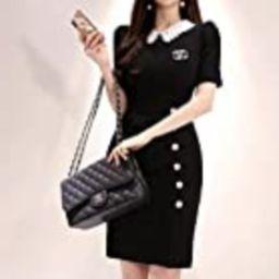 Designer Handbags Shoulder Bag Baguette Purse Gold Chain Strap Black Quilted Leather | Amazon (US)