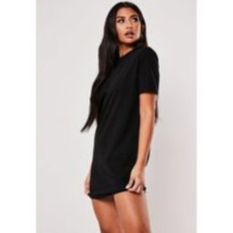 Petite Black Basic T Shirt Dress | Missguided (US & CA)