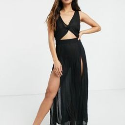 Esmee Exclusive maxi beach dress with cut out detail in black | ASOS (Global)
