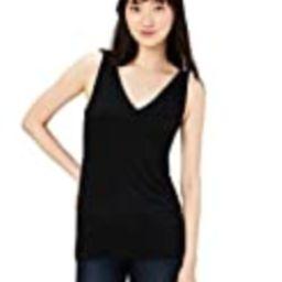 Amazon Brand - Daily Ritual Women's Jersey V-Neck Tank, Black, X-Small   Amazon (US)