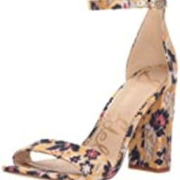 Sam Edelman Women's Yaro Heeled Sandal, Tuscan Yellow/Multi, 6.5 W US   Amazon (US)
