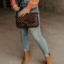 Checked In Purse - Brown | Mindy Mae's Market
