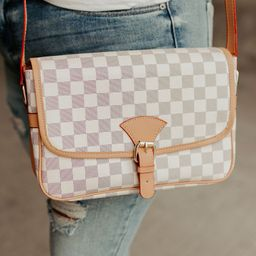 Checked In Purse - White | Mindy Mae's Market