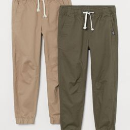 2-pack Twill Joggers   H&M (US)