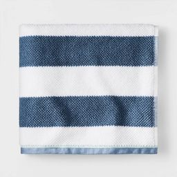 Striped Towel Navy with SILVADUR™ Antimicrobial Technology - Pillowfort™ | Target
