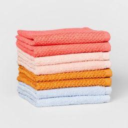 "8pc 12""x12"" Washcloth Set Melon - Pillowfort™ | Target"