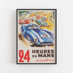 Car Race Wall Art 1956 Sports Car Race Print Vintage France | Etsy | Etsy (US)
