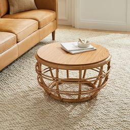 Savannah Rattan Round Coffee Table | West Elm (US)